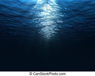 Under water  - dark blue under water image with sun rays