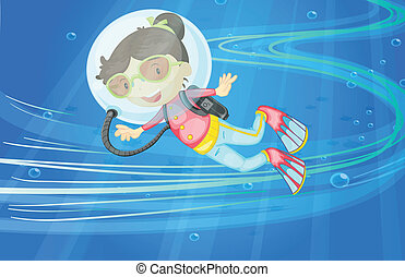 under water girl