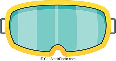 Under water glass mask icon, flat style