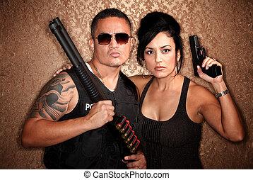 Undercover Cops - Attractive male and female undercover cops...