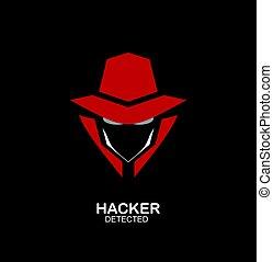 undercover., espía, incognito., servicio, agente, agente, secreto, icon., hacker.