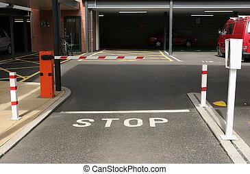 Underground Car Park - Entrance to an underground car park...