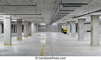 Underground car parking garage