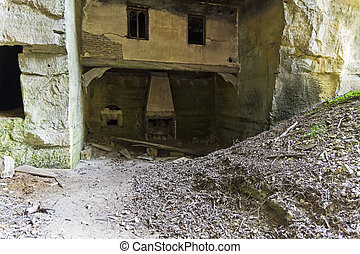 Underground castle in the old quarries