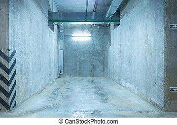 Underground city parking.