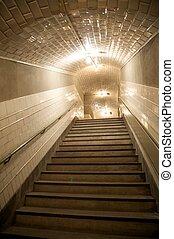 underground downstairs
