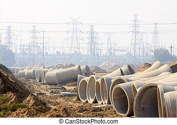 underground drainage pipeline construction