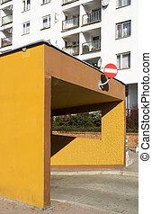 Underground garage in city