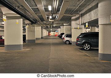 Underground Garage in Stockholm city