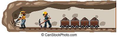Underground landscape of coal mine