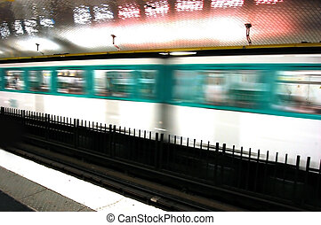 Underground motion subway