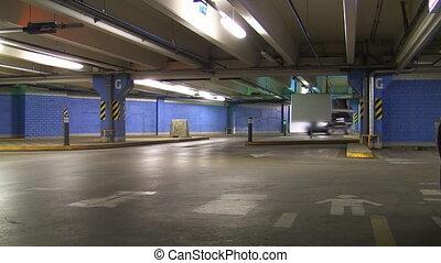 Underground parking time lapse