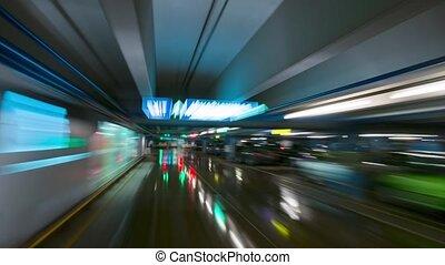 underground parking, time-lapse