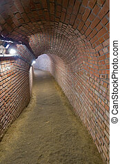 Underground path in the town of Przeszow, Poland
