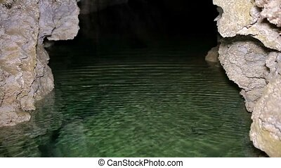 Underground river on the cave