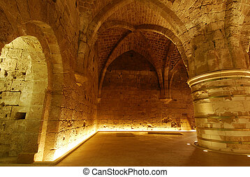 Underground room - An underground in Acre, Israel