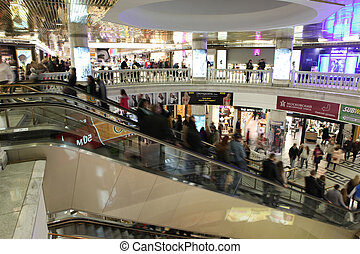 underground shopping center Okhotny Ryad on central district...