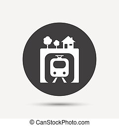 Underground sign icon. Metro train symbol.