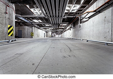 Underground tunnel road construction - Parking garage...