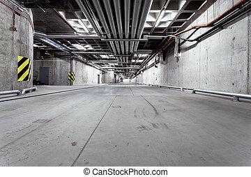 Underground tunnel road construction - Parking garage ...
