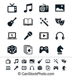 underhållning, ikonen