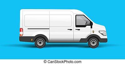 underhållstjänst, vit, skåpbil