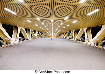 Underneath a bridge in Shanghai