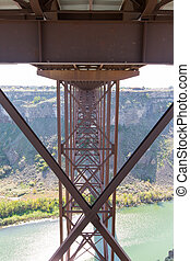 Underneath the old Perrine Bridge at Twin Falls - View...