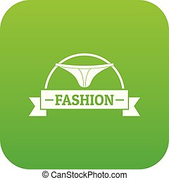 Underpant fashion icon green vector isolated on white...