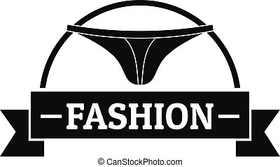 Underpant fashion logo, simple black style - Underpant...