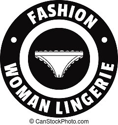 Underpant woman logo, simple black style - Underpant woman...
