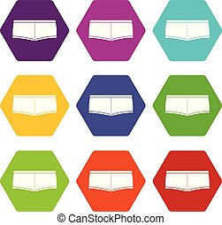 Underpants icons set 9 vector - Underpants icons 9 set...