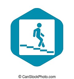 Underpass road sign icon, simple style