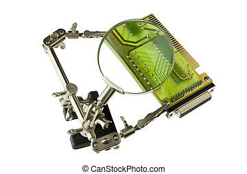 undersöka, elektronisk planka