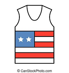 Undershirt vector, United state independence day related icon