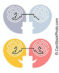 Understanding and misunderstanding, psychology concept. - ...