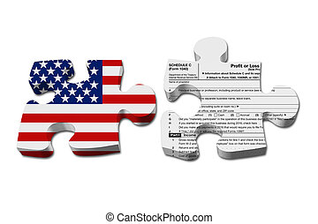 Understanding how to do your business taxes, Two puzzle...