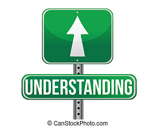 understanding road sign illustration design over a white...