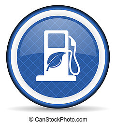 underteckna, blå, ikon, drivmedel, bio, biofuel