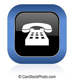 underteckna, glatt, fyrkant, telefon, telefonera ikon