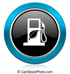 underteckna, glatt, ikon, drivmedel, bio, biofuel