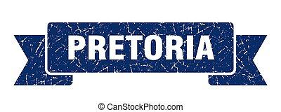 underteckna, grunge, band, ribbon., blå, pretoria