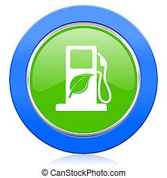 underteckna, ikon, drivmedel, bio, biofuel