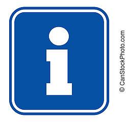 underteckna, information, turist
