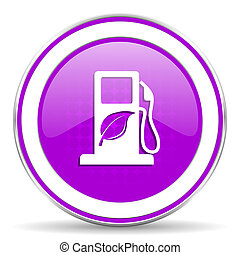 underteckna, violett, ikon, drivmedel, bio, biofuel