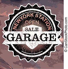 undertecknar, Årgång, Etiketter,  retro,  garage