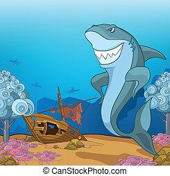 undervattens, ocean, värld