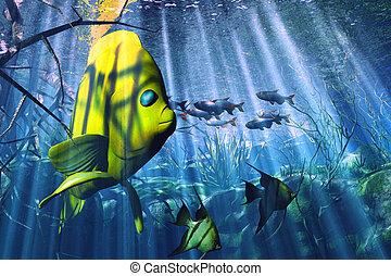 undervattens