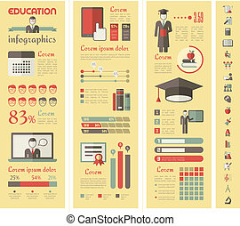 undervisning, infographics.
