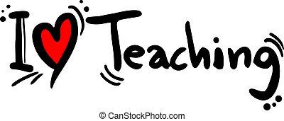 undervisning, kärlek